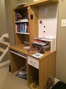 Beautiful Ikea Study Desk with bookcase