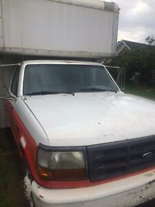 1996 FORD F 350 CUBE VAN FOR SALE OR TRADE