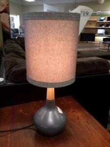 *** USED *** ASHLEY STACIA GRAY LAMP (2/CN)   S/N:51255684   #STORE527