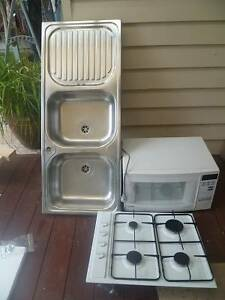 Omega hot plates + Samsung microwave oven + Blanco double sink Bentleigh East Glen Eira Area Preview