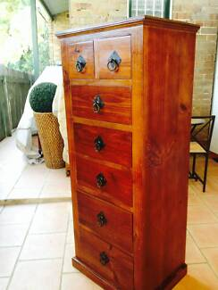 solid timberTall Boy Cabinet
