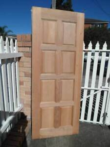 SOLID WOODEN DOORS  X3  WHITE  SECURITY DOORS X 2 Eastgardens Botany Bay Area Preview
