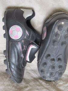 Little girl's soccer cleats
