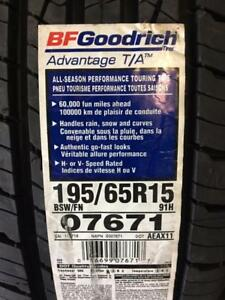 4 Brand New BF Goodrich Advantage TA 195/65R15 all season tires *** WallToWallTires.com ***