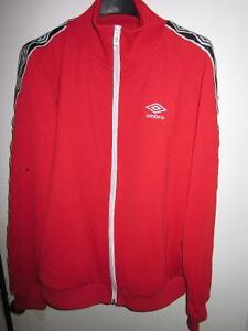 UMBRO RED MENS RETRO STYLE TRACK JACKET