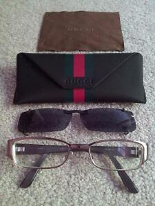 Gucci Eye Glass Frames with Sunglass Clip On London Ontario image 1