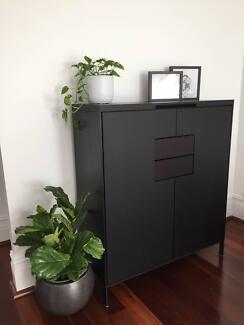 CAMERICH DESIGNER TALL BLACK CABINET & BUFFET (RP $5,500.00 pair)