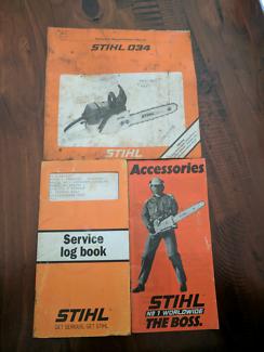 Stihl 034 original manual and service book