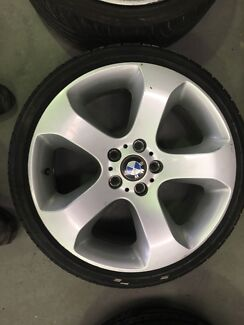 """BMW X5 19"""" rims and tyres to suit commodore"""