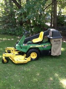 JD Riding mower with bagged and blower