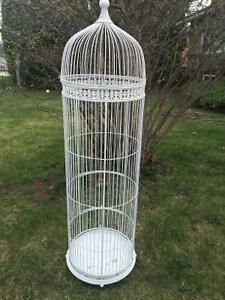 Vintage 4ft+ white birdcage