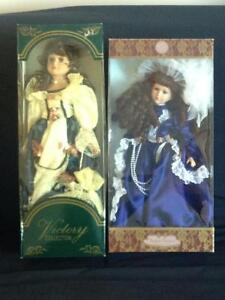 Porcelain Dolls with Stands in Mint Condition Kitchener / Waterloo Kitchener Area image 9