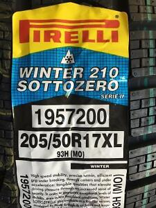 4 Brand New Pirelli Winter 210 Sottozero  205/50R17 Winter Tires  *** WallToWallTires.com ***