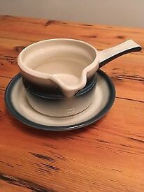 Wedgwood Blue Pacific Gravy/Sauce Boat With Saucer/Stand