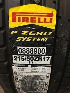 4 Brand New Pirelli Pzero System 215/50R17 Summer Tires *** WallToWallTires.com ***