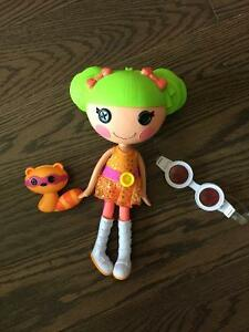 LALALOOPSY doll- Dyna Might and racoon