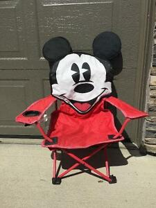 Kid's Mickey Mouse Camping Chair Strathcona County Edmonton Area image 1