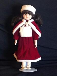 Porcelain Dolls with Stands in Mint Condition Kitchener / Waterloo Kitchener Area image 6
