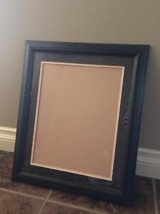 11x14 blue matted picture frame