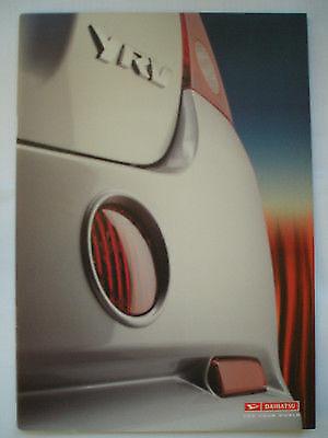 Daihatsu YRV range brochure Jan 2001