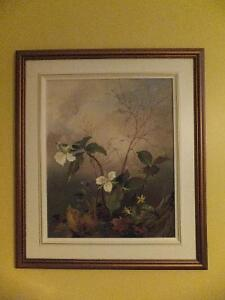 White Trilliums Painting by Ernest Heidersdorf