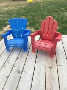 Two toddler lawn chairs