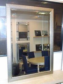 Wall Mirror in Silver Mesh frame. 101 x 71cm. BNIB. RRP £100 (Debenhams)