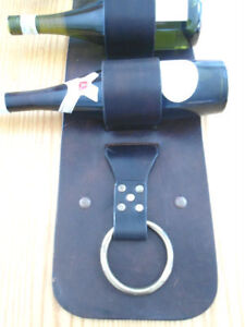 HANDCRAFTED LEATHER WINE RACK Kitchener / Waterloo Kitchener Area image 2