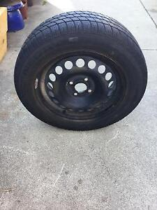 One 195 60 15 National Renegade 4x100 -60% tread
