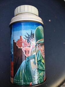 1965 VINTAGE EXCELLENT CONDITION GI JOE THERMOS - PARKER PICKERS