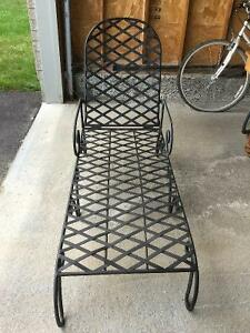 Wrought Iron Chaise Lounge