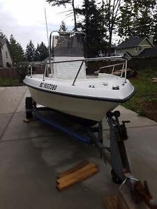 17ft center console turn key fishing boat