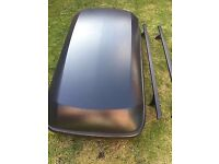 Hapro 250ltr Car Roof Box, Rails And Brackets To Fit Ford Focus 2011 Onwards