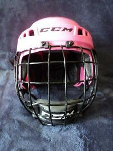 Casque hockey fille CCM 04S rose