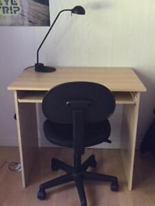2 bureaux de travail (tablette)+ chaises + biblio (Mix & Match)