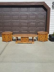 Retro Coffee table with 2 matching end tables