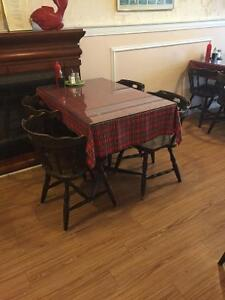 Used restaurant tables ,chairs and refrigerator for sale