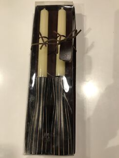 Brand new candle holder with candles