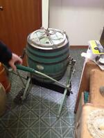 Antique butter churns and the like