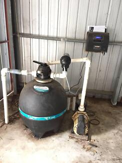 Pool Chlorinator System + Pool Pump