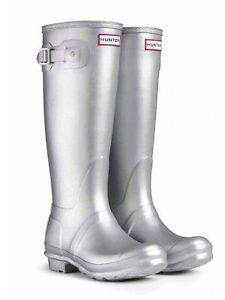 Silver Hunter Boots - Women's Size 8 SOLD PPU