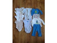 Baby boys vests and Pjs 3-6 months
