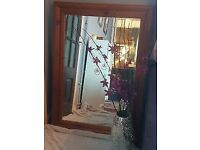 Chunky Farmhouse Pine Mirror Large 61 cm by 91 cm excellent condition