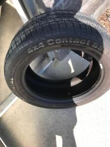 Four 255/50R19 Continental 4x4 Contact SSR 70%+