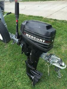 8 HP Mercury outboard motor.
