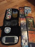 Psp sony kit complet jeux console carte SD