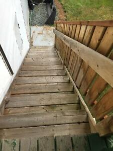 stairs and railing nanaimo 27 08 2016 full set of deck stairs three