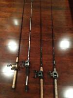 baitcasters rods and reels