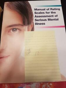 MANUAL OF RATING SCALES FOR THE ASSESSMENT OF SERIOUS MENTAL ILL Regina Regina Area image 1