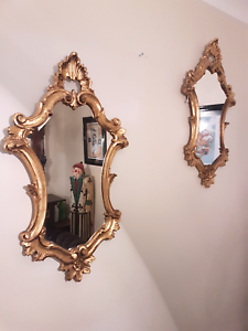 Set of decorative Gold framed mirror Currans Hill Camden Area Preview